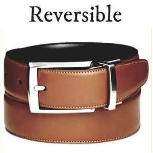 🆕️ PERRY ELLIS Mens' Faux Leather Reversible Belt